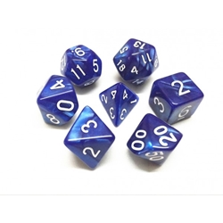 Picture of Blue Pearl Dice Set