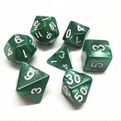 Picture of Emerald Green Pearl Dice Set