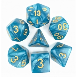 Picture of Lake Blue Pearl Dice Set