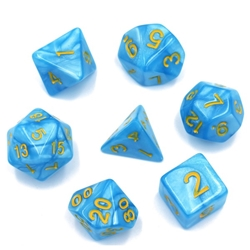 Picture of Light Blue Pearl Dice Set