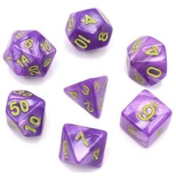 Picture of Light Purple Pearl Dice Set