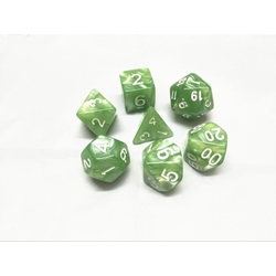 Picture of Pale Green Pearl Dice Set
