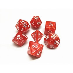 Picture of Red Pearl Dice Set