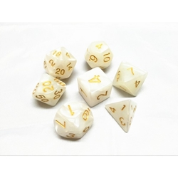 Picture of White Pearl Dice Set
