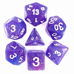 Picture of Blue/Purple Galaxy Dice Set