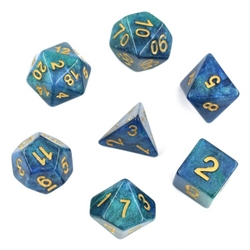 Picture of Blue/Green Galaxy Dice Set