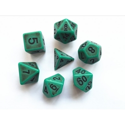 Picture of Green Ancient Dice Set