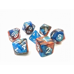 Picture of Blue and Gold Blend Dice Set