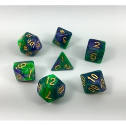 Picture of Green and Purple Blend Dice Set