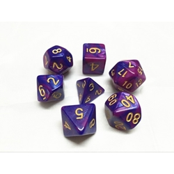 Picture of Purple and Blue Blend Dice Set