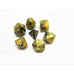 Picture of Black and Yellow Blend Dice Set
