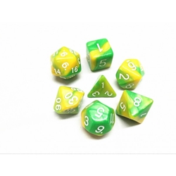 Picture of Green and Yellow Blend Dice Set