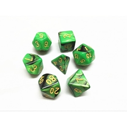 Picture of Black and Green Blend Dice Set