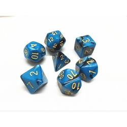 Picture of Black and Blue Blend Dice Set