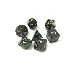 Picture of Black and Green Glitter Dice Set