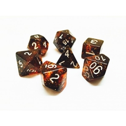 Picture of Black and Orange Glitter Dice Set