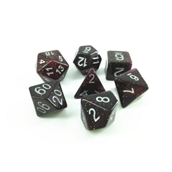 Picture of Black and Purple Glitter Dice Set