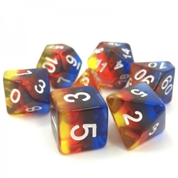 Picture of Burning Cloud Transparent Layered Dice Set