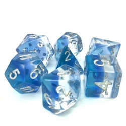 Picture of Blue Gradient Transparent Layered Dice Set