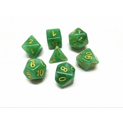 Picture of Green Jade Dice Set