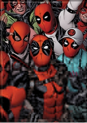 Picture of Deadpool and Fans Magnet