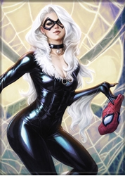 Picture of Black Cat ArtGerm Magnet