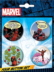 Picture of Deadpool Button Set
