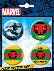 Picture of Black Panther Wakanda Button Set