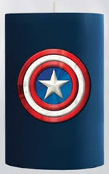 Picture of Captain America Sculpted Insignia Candle