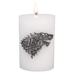Picture of Game of Thrones House Stark Sculpted Insignia Candle