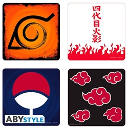 Picture of Naruto 4 Coaster Emblem Set
