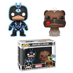Picture of Pop Marvel Black Bolt and Lockjaw Previews Exclusive Vinyl Figure 2-Pack