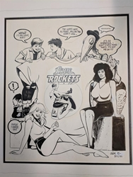Picture of Gilbert & Jaime Hernandez Love & Rockets original Art