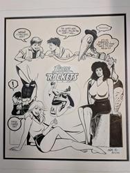 Picture of Gilbert and Jaime Hernandez Love and Rockets original Art