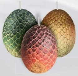 Picture of Game of Thrones Dragon Eggs Candle Set