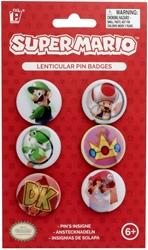 Picture of Super Mario Lenticular Pin Badge Set