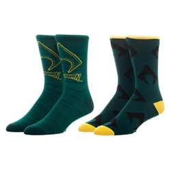 Picture of Aquaman Mens Casual Socks 2 Pair