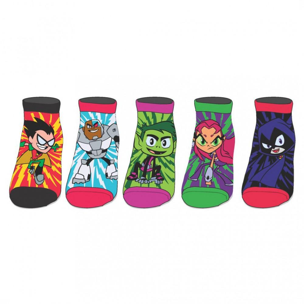 a21498e000688 Bedrock City Comic Company. Teen Titans Go Ankle Socks 5 Pair