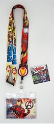 Picture of Iron Man Lanyard with Zip Card Holder