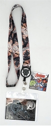 Picture of Black Panther Lanyard with Zip Card Holder