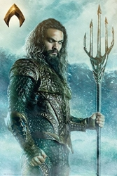 "Picture of Aquaman Justice League Trident 24"" x 36"" Poster"