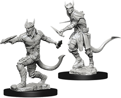 Picture of Dungeons and Dragons Nolzur's Tiefling Male Rogue Unpainted Miniature
