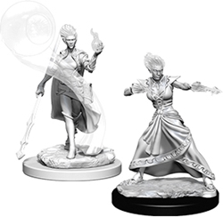 Picture of Dungeons and Dragons Nolzur's Fire Genasi Female Wizard Unpainted Miniature
