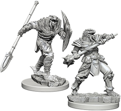 Picture of Dungeon & Dragons Nolzur's Dragonborn Fighter with Spear Unpainted Miniature