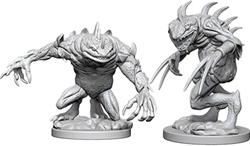 Picture of dungeons and dragons Nolzur's Gray Slaad and Death Slaad Unpainted Miniature