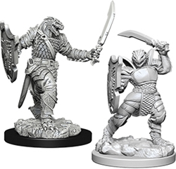 Picture of Dungeon & Dragons Nolzur's Dragonborn Female Paladin Unpainted Miniature