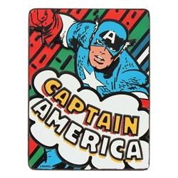 Picture of Captain America Retro Embossed Tin Magnet