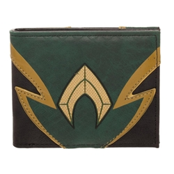 Picture of Aquaman Chrome Weld Patch Bi-Fold Wallet