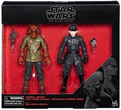 Picture of Star Wars Black Series Admiral Ackbar and First Order Officer Action Figures