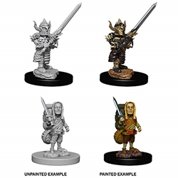 Picture of Dungeons and Dragons Nolzur's Marvelous Unpainted Halfling Male Fighter Miniatures